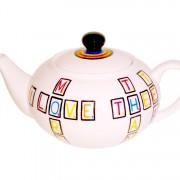 Small Scrabble Teapot left side
