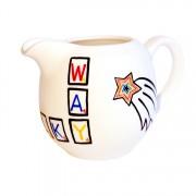 Scrabble milk jug – left