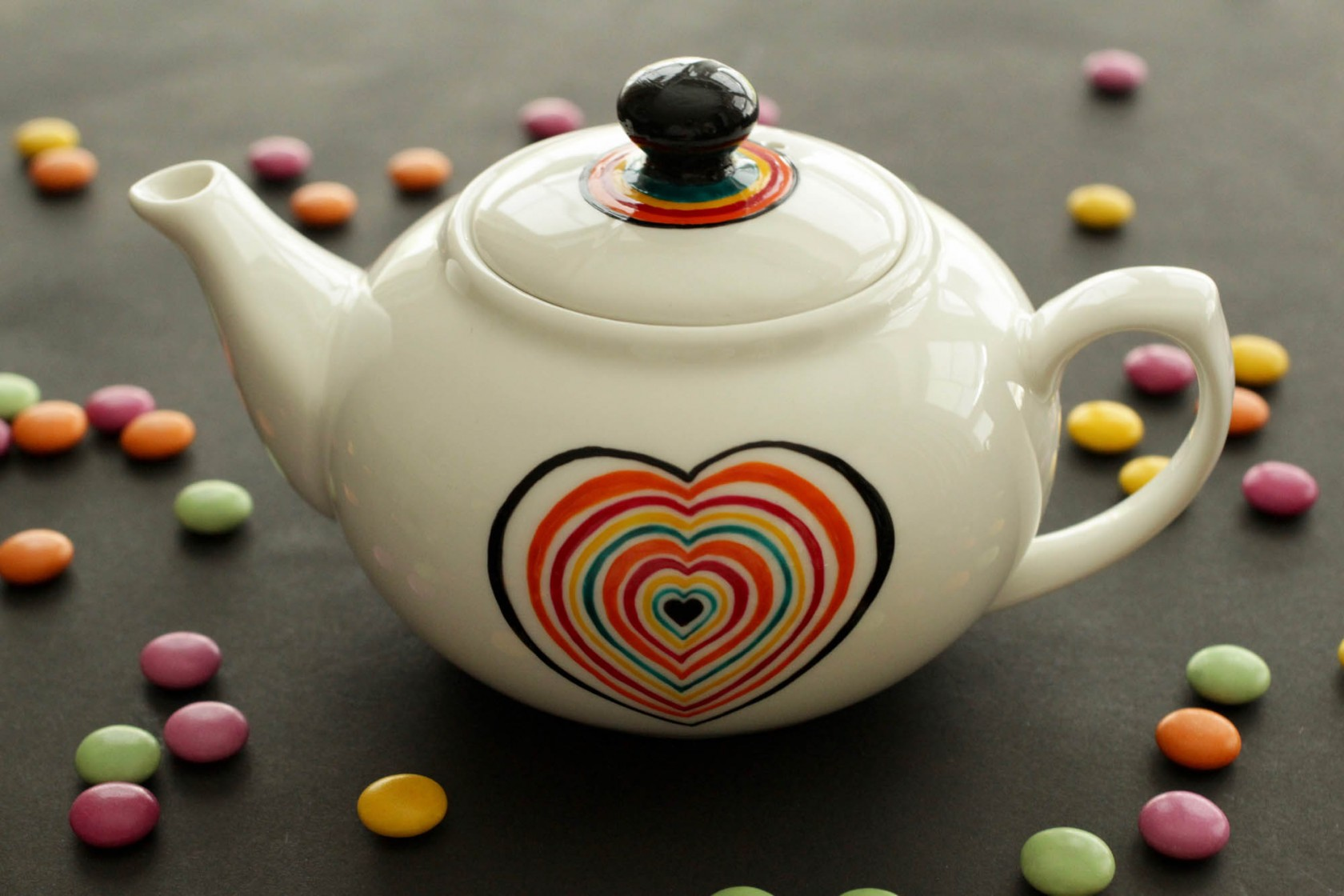 Scrabble Love Teapot – Small