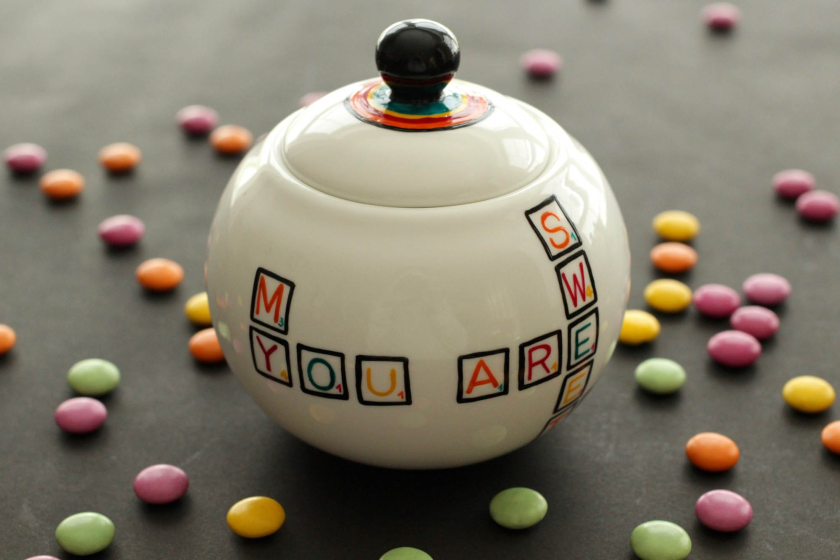 Scrabble Sugar Bowl