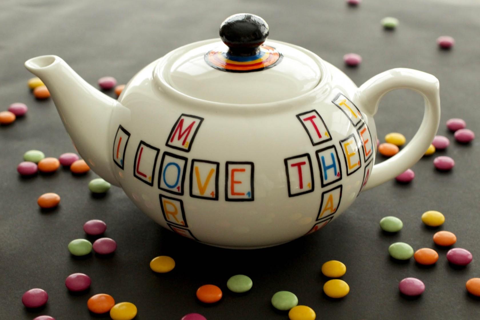 Scrabble Teapot – Large